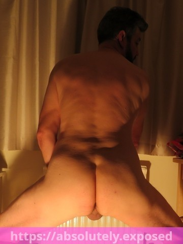 Greg's back view